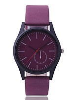 cheap -Women's Dress Watch Wrist Watch Quartz New Design Casual Watch PU Band Analog Casual Fashion Black / Brown / Grey - Gray Purple Brown One Year Battery Life