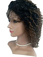 cheap -Human Hair Lace Front Wig Indian Hair Kinky Curly Wig 130% Human Hair Lace Wig
