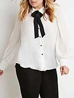cheap -women's going out blouse - solid colored shirt collar