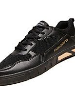 Недорогие -Муж. Комфортная обувь Полиуретан Осень Кеды Белый / Черный / Бежевый