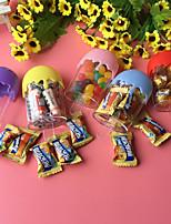 baratos -Oval Plástico Suportes para Lembrancinhas com Combinação Caixas de Ofertas - 12pcs