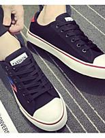Недорогие -Муж. Комфортная обувь Полотно Весна & осень На каждый день Кеды Белый / Черный