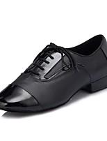 economico -Per uomo Scarpe per balli latini / Scarpe per salsa Pelle Sneaker A fantasia Tacco cubano Scarpe da ballo Nero