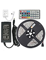 cheap -ZDM® 5m Light Sets 60 LEDs 5050 SMD 1 44Keys Remote Controller / 1 AC Cable / 1 X 12V 3A Power Supply RGB Cuttable / Decorative / Self-adhesive 12 V 1set