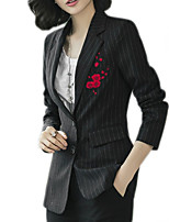 cheap -Women's Basic Blazer-Solid Colored Floral