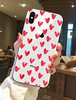 Недорогие -Кейс для Назначение Apple iPhone X / iPhone 8 Прозрачный / С узором Кейс на заднюю панель С сердцем Мягкий ТПУ для iPhone X / iPhone 8 Pluss / iPhone 8