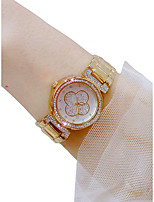 baratos -Mulheres Relógio de Pulso Cronógrafo / Luminoso / Relógio Casual Lega Banda Rígida / Fashion Prata / Dourada / Ouro Rose