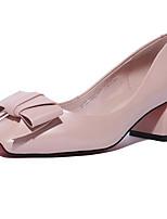 Недорогие -Жен. Обувь Наппа Leather Осень Удобная обувь Обувь на каблуках На толстом каблуке Черный / Розовый