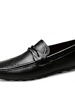 Недорогие -Муж. Мокасины Наппа Leather Весна / Лето На каждый день Мокасины и Свитер Дышащий Черный / Кофейный