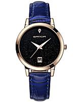 Недорогие -SANDA Жен. Нарядные часы / Наручные часы Японский Календарь / Защита от влаги / Новый дизайн Кожа Группа На каждый день / Мода Черный / Белый / Синий