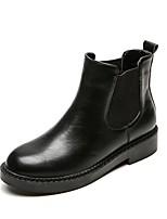 Недорогие -Жен. Армейские ботинки Наппа Leather Наступила зима Ботинки На толстом каблуке Ботинки Черный / Коричневый