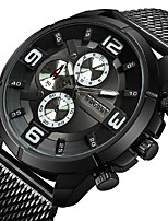 cheap -Men's Sport Watch Wrist Watch Japanese Quartz Casual Watch Cool Large Dial Stainless Steel Band Analog Luxury Fashion Black / Rose Gold - Blue / Black Black / White Black / Rose Gold