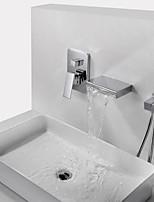 Недорогие -Смеситель для ванны - Современный Хром На стену Медный клапан