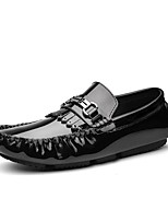 cheap -Men's Dress Shoes Leather Spring / Fall Casual Loafers & Slip-Ons White / Black / Wine / Tassel