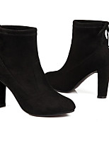 cheap -Women's Shoes Suede Fall & Winter Comfort / Bootie Boots Chunky Heel Booties / Ankle Boots Black / Dark Grey / Burgundy
