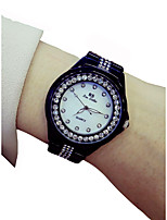 cheap -Women's Wrist Watch Chronograph / Luminous / Casual Watch Alloy Band Sparkle / Fashion Black
