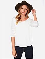 billiga -Öppen rygg / Utklippt, Enfärgad T-shirt - Affär Dam