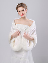 cheap -Sleeveless Faux Fur Wedding / Party / Evening Women's Wrap With Patterned Shawls