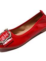 Недорогие -Жен. Комфортная обувь Полиуретан Осень На плокой подошве На плоской подошве Квадратный носок Бежевый / Красный / Розовый