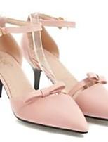 Недорогие -Жен. Обувь Полиуретан Лето Туфли лодочки Обувь на каблуках На шпильке Белый / Бежевый / Розовый