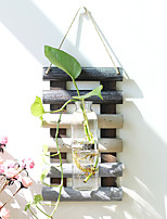 cheap -1pc Wood / Glass Country / Rustic / Modern / Contemporary for Home Decoration, Decorative Objects / Home Decorations Gifts