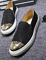 Недорогие -Муж. Комфортная обувь Кожа Весна / Осень На каждый день Мокасины и Свитер Контрастных цветов Черный / Синий / Лак