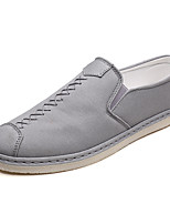 cheap -Men's Comfort Shoes Canvas Fall Casual Loafers & Slip-Ons Non-slipping Black / Gray