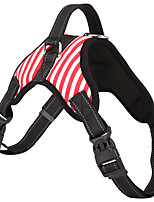 cheap -Dogs Harness Adjustable Size / Casual / Daily Stripe Oxford Cloth Black / Red