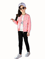 cheap -Kids Girls' Basic Sports / School Striped Long Sleeve Cotton Clothing Set