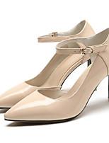 baratos -Mulheres Sapatos Confortáveis Pele Napa Verão Saltos Salto Agulha Preto / Rosa claro