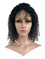 cheap -Human Hair Lace Front Wig Indian Hair Kinky Curly Wig 130% Best Quality Natural Short Human Hair Lace Wig