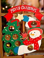 abordables -ornamentos de Navidad Vacaciones De madera Cuadrado Novedades Decoración navideña