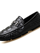 cheap -Men's Moccasin PU(Polyurethane) Fall Loafers & Slip-Ons White / Black / Silver