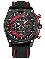 cheap -MEGIR Men's Sport Watch Japanese Quartz 30 m Water Resistant / Water Proof Calendar / date / day Chronograph Silicone Band Analog Casual Fashion Black - Silver Yellow Red / Noctilucent