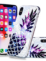 baratos -Capinha Para Apple iPhone X / iPhone 8 Plus Estampada Capa traseira Fruta Macia TPU para iPhone X / iPhone 8 Plus / iPhone 8