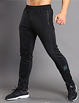 cheap -Men's Pocket 1pc Running Pants - Black Sports Solid Color Tights Fitness, Gym Activewear Soft High Elasticity
