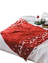 baratos -Super Suave, Impressão Reactiva Sólido / Geométrica Fibras Acrilicas cobertores