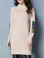 cheap -Women's Pullover - Solid Colored / Floral / Color Block, Flower / Patchwork