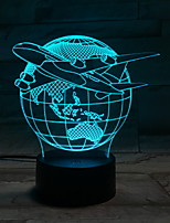 Недорогие -Мировые Глобусы Пластик LED Круглые Для дома