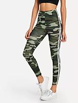 cheap -Women's Sporty / Basic Legging - Camouflage High Waist