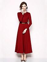 cheap -SHE IN SUN Women's Elegant Slim Sheath / Swing Dress Maxi / Fall