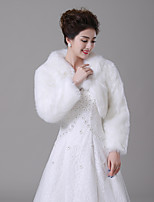 cheap -Sleeveless Faux Fur Wedding / Party / Evening Women's Wrap With Solid Coats / Jackets