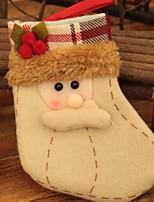 economico -Calze di Natale Vacanza Poliestere Quadrato Originale Decorazione natalizia