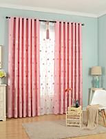 Недорогие -Шторы портьеры Спальня Цветочный принт Полиэфирно-льняная смешанная ткань Вышивка