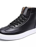 Недорогие -Муж. Полиуретан Осень Удобная обувь Кеды Белый / Черный / Коричневый