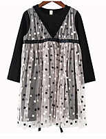 cheap -Kids Girls' Geometric / Color Block Long Sleeve Dress