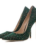 Недорогие -Жен. Обувь Сетка Весна Удобная обувь Обувь на каблуках На шпильке Черный / Зеленый / Винный