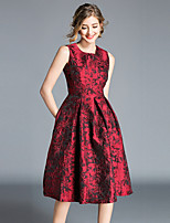 cheap -Women's Vintage / Sophisticated A Line Dress - Floral Print
