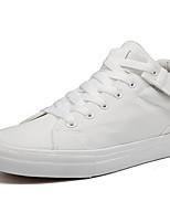 Недорогие -Муж. Вулканизованная обувь Полотно Осень На каждый день Кеды Дышащий Белый / Черный