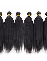 economico -6 pacchi Peruviano Yaki liscia Cappelli veri Ciocche a onde capelli veri / Bundle di capelli / Un pacchetto di soluzioni 8-28 pollice Colore Naturale Tessiture capelli umani Estensione / Migliore